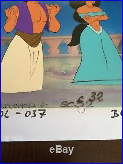 WALT DISNEY ALADDIN TV SERIES 1994 ORIGINAL PRODUCTION CEL Jasmine