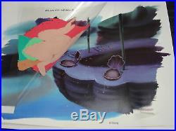 WALT DISNEY ANIMATION ORIG PRODUCTION ART LITTLE MERMAID ARIEL CEL WithBACKGROUND