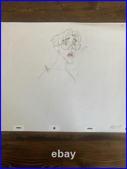 WALT DISNEY Milo From Atlantis Lost ORIGINAL PRODUCTION CEL DRAWING Artwork Art