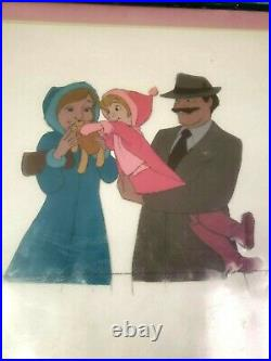 Walt Disney 1977 THE RESCUERS Penny and Parents Animation Production Cel Movie