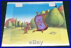 Walt Disney Aladdin Tv Series 1994 Original Production Cel Abu Magic Carpet