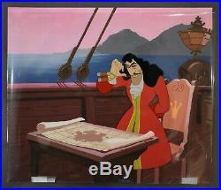 Walt Disney Animation Art Production Cel of Captain Hook from Peter Pan (1953)