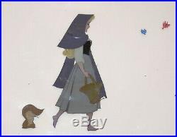 Walt Disney Art Corner Production Cel Set Up ft. Briar Rose from Sleeping Beauty