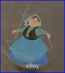 Walt Disney Art Corner Production Cel Set Up ft. Merryweather Sleeping Beauty