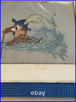 Walt Disney Chip and Dale Art Corner Production Animation Cel of Chip 1956
