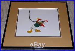 Walt Disney Donald Duck Dumbbell Of The Yukon 1946 Framed Production Cel