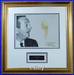 Walt Disney Flying Tinker Bell Production cel SIGNED Margaret Kerry Peter Pan