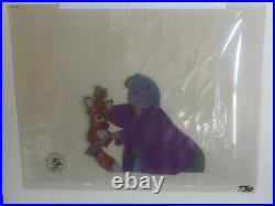 Walt Disney Fox And The Hound Production Animation Cel Painting Gallery COA