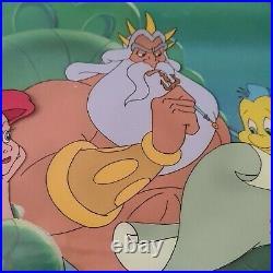 Walt Disney Little Mermaid TV Production cel /Original drawing/COA Ariel Framed