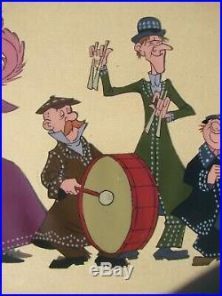 Walt Disney MARY POPPINS Pearly Band Original 1964 Production Animation Cel