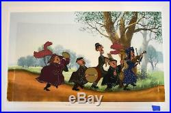 Walt Disney Mary Poppins Production Cel featuring The Pearly Band