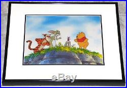 Walt Disney New Adventures Of Winnie The Pooh 1988 Production Cel Tigger Piglet
