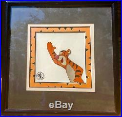 Walt Disney Original Hand Painted Production Cel Winnie the Pooh & Tigger Too