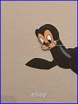 Walt Disney Original Production Animation Cel Pluto Rescue Dog of Seal 1947