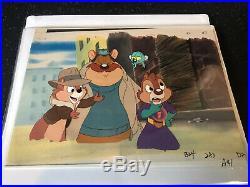 Walt Disney Original Production Cel Chip n Dale Rescue Rangers With COA