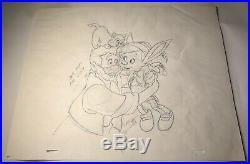 Walt Disney Pinocchio Original Production Animation Cel Drawing