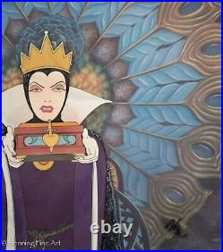 Walt Disney Production 1987 Animation Cel Snow White the Wicked Queen, Framed