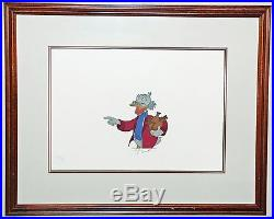 Walt Disney Production Cel Mickey's Christmas Carol featuring Scrooge McDuck
