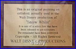 Walt Disney Production Cel Snow White with Courvosier Background Framed