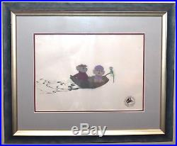 Walt Disney Production Cel of Miss Bianca, Bernard, Evinrude from The Rescuers
