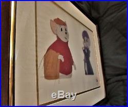 Walt Disney Production Cel of Miss Bianca & Bernard from The Rescuers Framed
