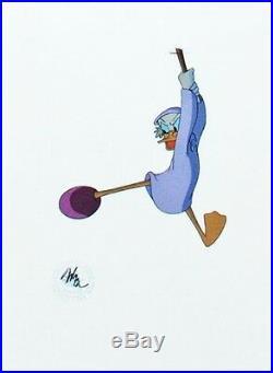 Walt Disney Production Cel of Scrooge McDuck from Mickey's Christmas Carol 1983