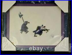 Walt Disney ROBIN HOOD Nutsy and Trigger 1973 Production Animation Film Cel RARE