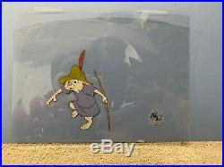 Walt Disney ROBIN HOOD Two Animation Production Cels of Rabbit Kids (Skippy)