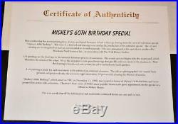 Walt Disney Roger Rabbit Mickeys 60th Bday Original Production Cel & Drawing