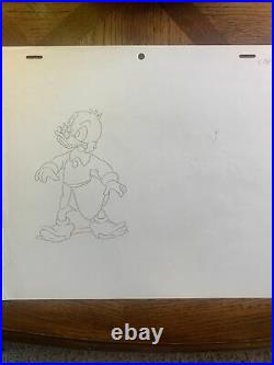 Walt Disney Scrooge McDuck Original Production Cel Drawing Animation Art