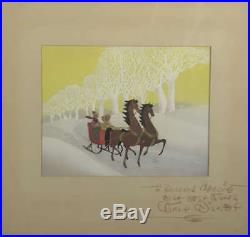 Walt Disney Signed Autographed Melody Time Painted PRODUCTION Cel Beckett BAS