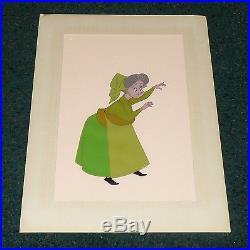 Walt Disney Sleeping Beauty 1959 Fauna Original Gold Label Production Cel