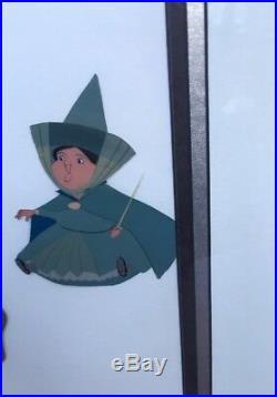Walt Disney Sleeping Beauty Flora, Fauna, Merryweather Production Animation Cel