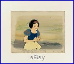 Walt Disney Snow White & The Seven Dwarfs Production Cel Painted Background 1937