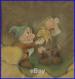 Walt Disney Snow White and the Seven Dwarfs Production Cels ft. Sneezy & Bashful