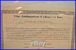 Walt Disney Studios Cinderella Original Production Cel King Three Autographs