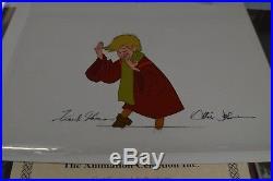 Walt Disney Studios Sword In The Stone An Original Production Cel Wart Signed