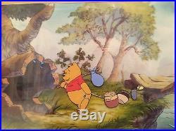 Walt Disney Winnie The Pooh Original Production Animation Cel Framed-large