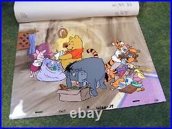 Walt Disney Winnie the Pooh Original Production Cel Set Up Key Master Background