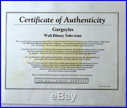 Walt Disney's GARGOYLES OPC ORIGINAL PRODUCTION CEL w Background & COA Goliath