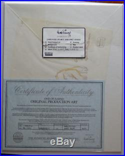 Walt Disney's GARGOYLES OPC ORIGINAL PRODUCTION CEL w Original DRAWING & COA