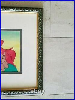 Walt Disney's Little Mermaid TV Production cel plus Drawing of Arial with COA