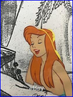 Walt Disney's Peter Pan Mermaid Animation Production Cel