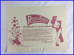Who Framed Roger Rabbit Animation Production Cel Photo Background