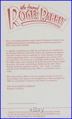 Who Framed Roger Rabbit Production Cel Roger & Eddie Valiant (Bob Hoskins)