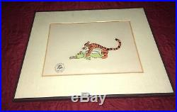 Winnie The Pooh And Tigger Too Original Production Cel 1974 with COA and framed