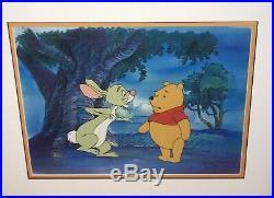 Winnie The Pooh and Rabbit Production Animation Cel Walt Disney