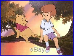 Winnie the Pooh and Christoper Robin Production Animation Cel